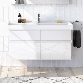 Villeroy & Boch Collaro vanity unit with 4 pull-out compartments front glossy white / corpus glossy white, recessed handle matt white