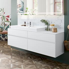 Villeroy & Boch Collaro vanity unit with 4 pull-out compartments front matt white / corpus matt white, top matt white, recessed handle matt white