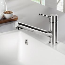 Villeroy & Boch Como Shower single lever kitchen mixer, low pressure polished stainless steel