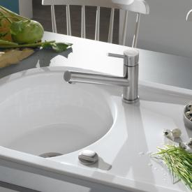 Villeroy & Boch Como single lever kitchen mixer, low pressure stainless steel