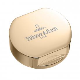 Villeroy & Boch cover for single rotary handle, round gold