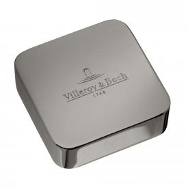 Villeroy & Boch cover for single rotary handle, square stainless steel