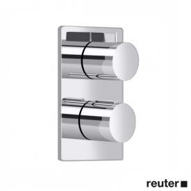 Villeroy & Boch Cult/Just concealed thermostat with one-way volume control chrome
