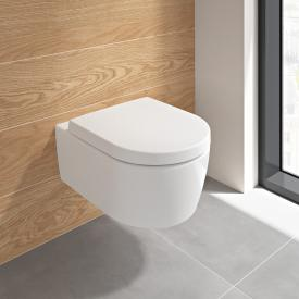 Villeroy & Boch Embrace combi pack wall-mounted, washdown toilet with DirectFlush, with toilet seat