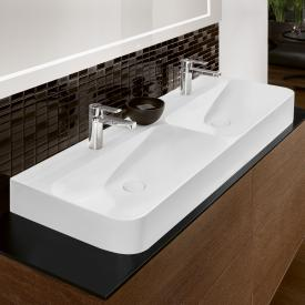 Villeroy & Boch Finion double washbasin stone white, with CeramicPlus, ungrounded, without overflow