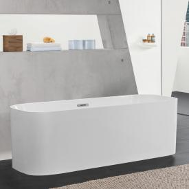 Villeroy & Boch Finion freestanding bath white, chrome, with integrated water inlet