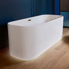 Villeroy & Boch Finion freestanding bath with emotion function stone white, champagne, with integrated water inlet