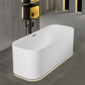 Villeroy & Boch Finion freestanding bath with emotion function white, chrome, with design ring