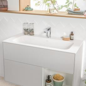 Villeroy & Boch Finion vanity washbasin white, with CeramicPlus, with 1 tap hole, with concealed overflow