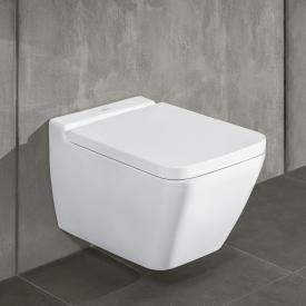 Villeroy & Boch Finion wall-mounted washdown toilet, open flush rim, DirectFlush stone white, with CeramicPlus