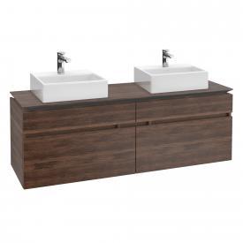Villeroy & Boch Legato vanity unit for 2 countertop washbasins with 4 pull-out compartments front arizona oak / corpus arizona oak