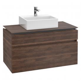Villeroy & Boch Legato vanity unit with 2 pull-out compartments front arizona oak / corpus arizona oak