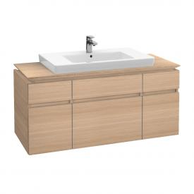 Villeroy & Boch Legato vanity unit with 5 pull-out compartments front impresso elm / corpus impresso elm