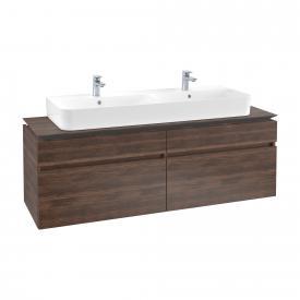 Villeroy & Boch Legato vanity unit for double washbasin with 4 pull-out compartments front arizona oak / corpus arizona oak