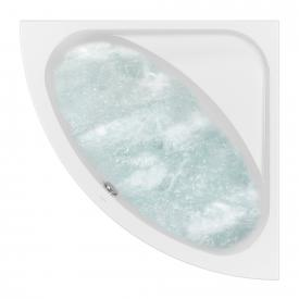 Villeroy & Boch Loop & Friends OVAL Duo corner bath whirlpool system, technical position 2 white with CombiPool Comfort