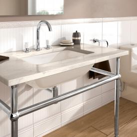 Villeroy & Boch Loop & Friends undermount washbasin, rectangular pergamon, with CeramicPlus, without overflow