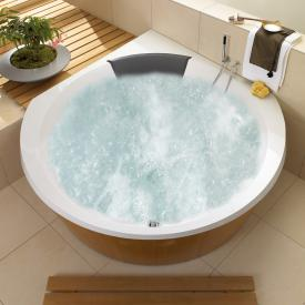 Villeroy & Boch Luxxus corner bath with whirlpool system, technical position 1 starwhite with CombiPool Comfort