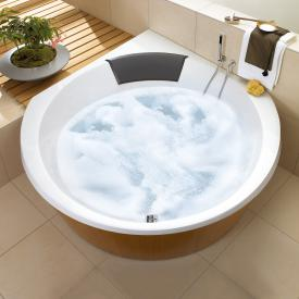 Villeroy & Boch Luxxus corner bath with whirlpool system, technical position 2 white with Special CombiPool Active