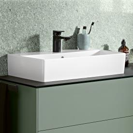 Villeroy & Boch Memento 2.0 washbasin white, with CeramicPlus, with 1 tap hole, with overflow, grounded