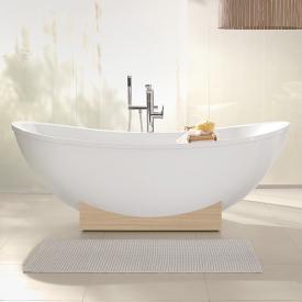 Villeroy & Boch My Nature Duo freestanding bath white, wooden console impresso elm