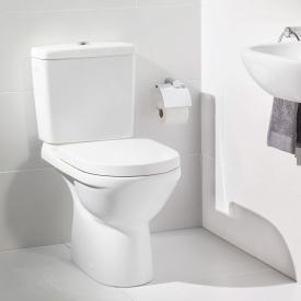 Villeroy & Boch O.novo close-coupled, floorstanding washdown toilet with flushing rim, white, with CeramicPlus