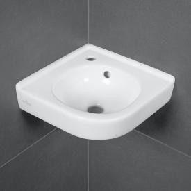 Villeroy & Boch O.novo corner hand washbasin white, with CeramicPlus, with overflow