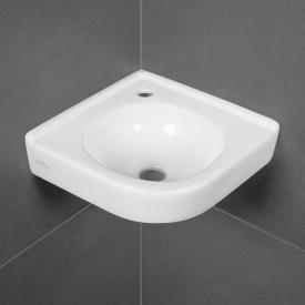 Villeroy & Boch O.novo corner hand washbasin white, with CeramicPlus, without overflow