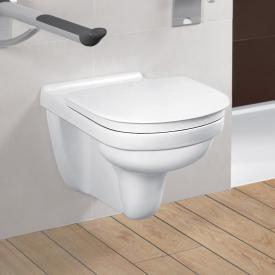 Villeroy & Boch O.novo Vita wall-mounted washdown toilet, open rim, DirectFlush white, with CeramicPlus and AntiBac