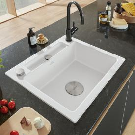 Villeroy & Boch Siluet 60 S built-in sink white alpine high gloss/position boreholes 1 and 2