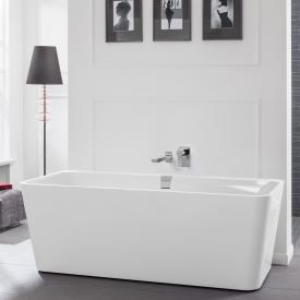 Villeroy & Boch Squaro Excellence Duo freestanding bath white, with integrated water inlet