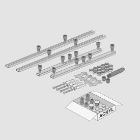 Villeroy & Boch Squaro Infinity MEPA shower tray frame, all sizes