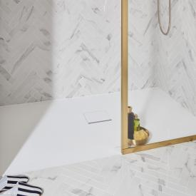 Villeroy & Boch Squaro Infinity Receveur de douche pour montage universel stone white