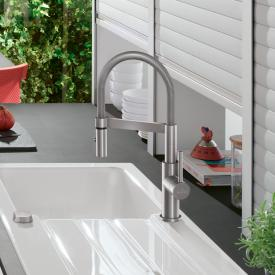 Villeroy & Boch Steel Expert Compact single lever kitchen mixer brushed stainless steel