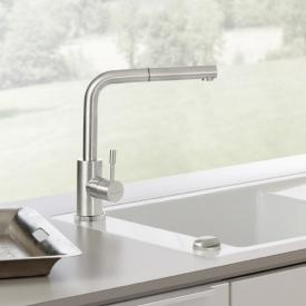 Villeroy & Boch Steel Shower single lever kitchen mixer, projection 230 mm