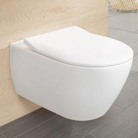 Villeroy & Boch Subway 2.0 Combi-Pack wall-mounted washdown toilet, open rim white, with CeramicPlus