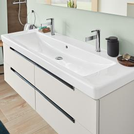 Villeroy & Boch Subway 2.0 double vanity washbasin white, with CeramicPlus, with 2 tap holes