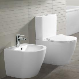 Villeroy & Boch Subway 2.0 floorstanding close-coupled washdown toilet, open flush rim white, with CeramicPlus