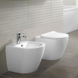 Villeroy & Boch Subway 2.0 floorstanding washdown toilet, open rim white, with CeramicPlus