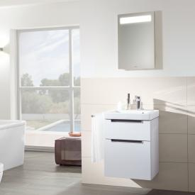 Villeroy & Boch Subway 2.0 hand washbasin with vanity unit and More to See 14 mirror