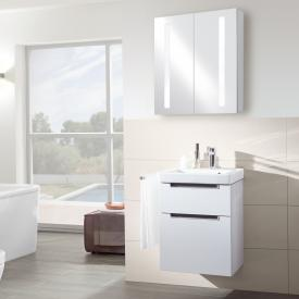Villeroy & Boch Subway 2.0 hand washbasin with vanity unit and My View 14 mirror cabinet