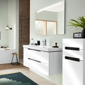 Villeroy & Boch Subway 2.0 washbasin with vanity unit and More to See 14 mirror