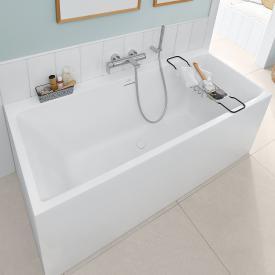 Villeroy & Boch Subway 3.0 rectangular bath stone white, overflow chrome