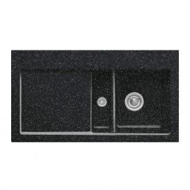Villeroy & Boch Subway 50 Flat sink chromite gloss/position borehole 2