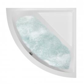Villeroy & Boch Subway corner bath with whirlpool system, technical position 2 white with AirPool Entry