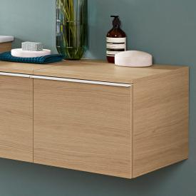Villeroy & Boch Venticello add-on unit with 1 pull-out compartment front nordic oak / corpus nordic oak, white handle