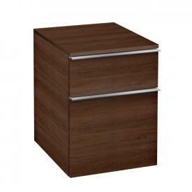 Villeroy & Boch Venticello add-on unit with 2 pull-out compartments front santana oak / corpus santana oak, chrome handles