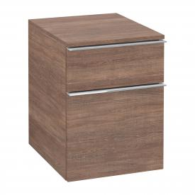 Villeroy & Boch Venticello add-on unit with 2 pull-out compartments front santana oak / corpus santana oak, chrome handles