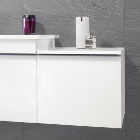 Villeroy & Boch Venticello Armoire d'appoint avec 1 tiroir Façade blanc mat/corps du meuble blanc mat, poignée bleue