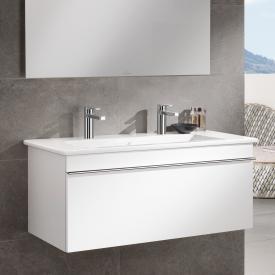 Villeroy & Boch Venticello Plan vasque double blanc, avec CeramicPlus, 2 trous percés