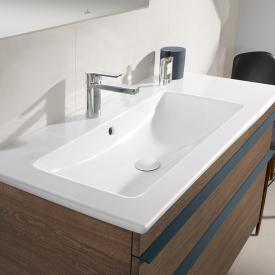 Villeroy & Boch Venticello Plan vasque blanc, avec CeramicPlus, 1 trou percé